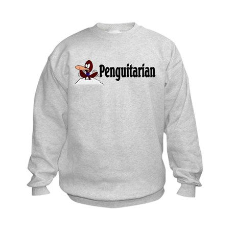 Penguitarian Penguin Kids Sweatshirt