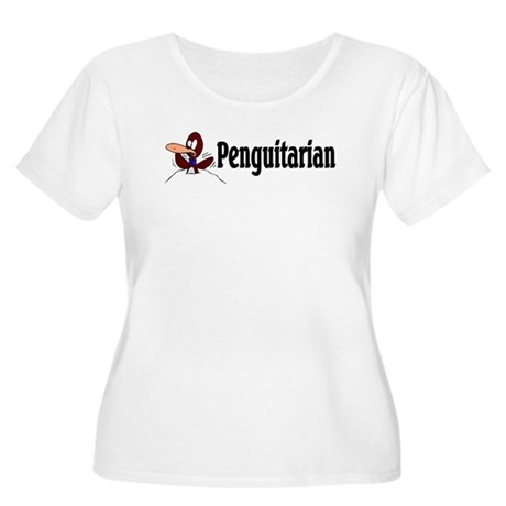 Penguitarian Penguin Women's Plus Size Scoop Neck