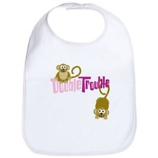 Double Trouble Monkeys Bib