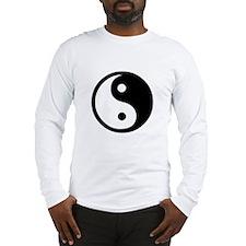 Black and White Yin Yang Bala Long Sleeve T-Shirt