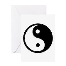 Black and White Yin Yang Bala Greeting Card