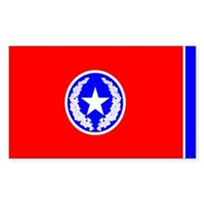 City of Chattanooga Flag Rectangle Sticker 10 pk)