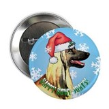 Holiday Afghan Hound 2.25&quot; Button