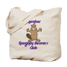 Naughty Beavers Club Tote Bag