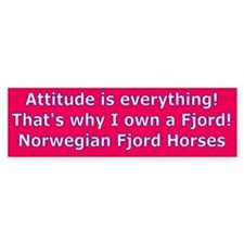 Fjord Horse Attitude is Everything