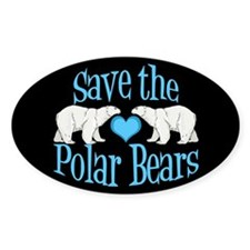 Save the Polar Bears Decal