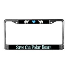 Save the Polar Bears License Plate Frame