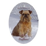 Brussels Griffon Ornament (Oval)