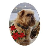 Brussels Griffon Oval Ornament