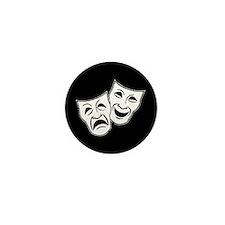 Theatre Masks (v2) Mini Button (10 pack)