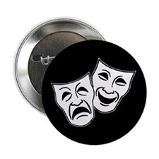 "Theatre Masks (v2) 2.25"" Button"