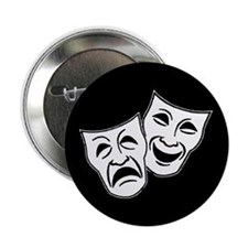 "Theatre Masks (v2) 2.25"" Button (10 pack)"