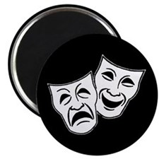 "Theatre Masks (v2) 2.25"" Magnet (10 pack)"