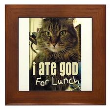 I Ate God For Lunch Framed Tile