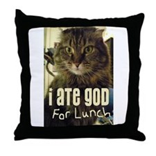 I Ate God For Lunch Throw Pillow