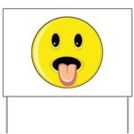 Smiley Face - Tongue Out Yard Sign