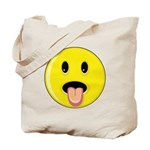 Smiley Face - Tongue Out Tote Bag