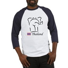 Cute Thai Elephant Thailand Baseball Jersey