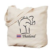 Cute Thai Elephant Thailand Tote Bag