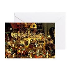 Carnival and Lent Greeting Card