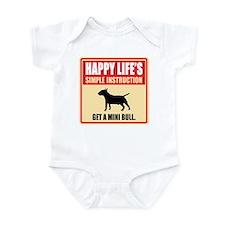 Miniature Bull Terrier Infant Bodysuit
