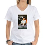 Be A Nurse (Front) Women's V-Neck T-Shirt