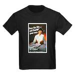 Be A Nurse (Front) Kids Dark T-Shirt