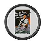 Be A Nurse Large Wall Clock