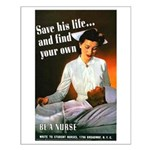 Be A Nurse Small Poster
