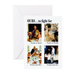 Freedom to Fight For Greeting Cards (Pk of 10)