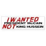 I wanted McCain! Bumper Sticker (50 pk)
