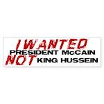 I wanted McCain! Bumper Sticker