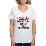 I wanted McCain! Women's V-Neck T-Shirt