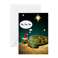 Sea Turtle Santa Greeting Card