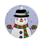 adorable snowman ornament (round)