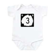 Highway 3, North Dakota Infant Bodysuit