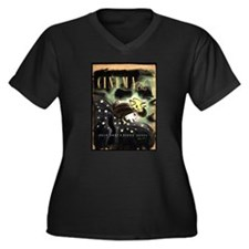 Katharine Hepburn Women's Plus Size V-Neck Dark T-