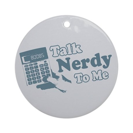 Talk Nerdy To Me Keepsake (Round)