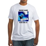 Somebody Blabbed Gossip (Front) Fitted T-Shirt