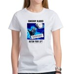 Somebody Blabbed Gossip (Front) Women's T-Shirt