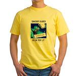 Somebody Blabbed Gossip (Front) Yellow T-Shirt