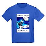 Somebody Blabbed Gossip (Front) Kids Dark T-Shirt