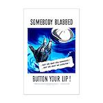 Somebody Blabbed Gossip Mini Poster Print