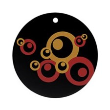 Retro Orange Circles Keepsake (Round)