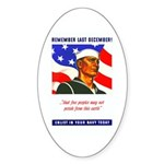 Enlist in the US Navy Oval Sticker