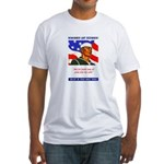 Enlist in the US Navy (Front) Fitted T-Shirt