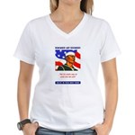 Enlist in the US Navy (Front) Women's V-Neck T-Shi