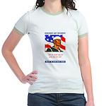 Enlist in the US Navy (Front) Jr. Ringer T-Shirt