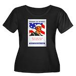 Enlist in the US Navy (Front) Women's Plus Size Sc