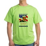 Enlist in the US Navy (Front) Green T-Shirt
